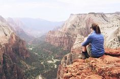 @morgancolander has started her Snapchat Takeover! Today she visited Zion National Park here's a photo of the incredible view from Observation Point. Add: the59parks on Snapchat to follow her trip!!  by the59parks