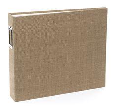American Crafts - Textured Album - 12 x 12 D-Ring - Burlap at Scrapbook.com $24.99