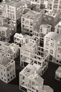 Stephanie Beck creates intricate paper sculptures, topographies or maze-like invented cities which play on different scales of perception: the houses might be seen as models but they also are 1:1 sculptures or birdcages. The cut-out paper structures look at the same time like unfinished...