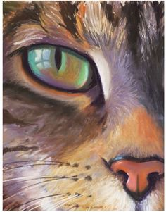 Close Up - Wooden Art Board - Cat. This close up of a cat wooden art board is a beautiful piece of work that is based off of a real animal. See into the eyes of a beautiful cat in any room.