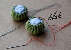 cute idea for recycling dryer lint.