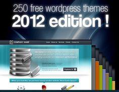 250 free Wordpress themes