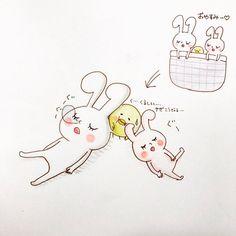 皆で仲良くお昼寝 mochi-rabbits have a nap together  #rabbit #chick #bird #tiny #character #lovely #animals #illustration  #mochirabbit #mochibi #piyomaru #train #nap #sleep #together #scrum  #うさぎ #ひよこ #キャラクター #イラスト #キャラ #モチうさぎ #モチビ #ピヨ丸 #昼寝 #仲良し #寝る #ぎゅうぎゅう #寝相が悪い