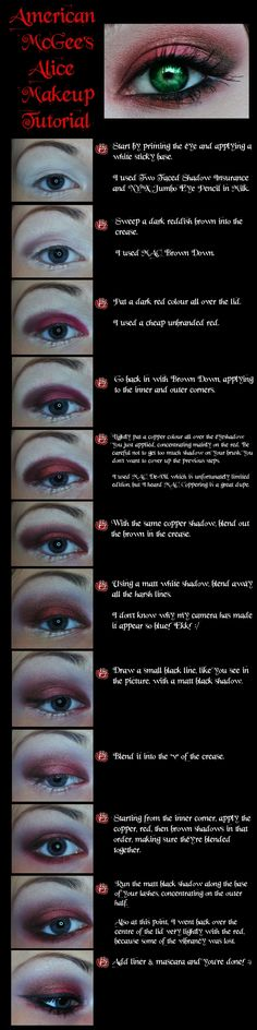 American McGee's Alice Eye Make-up Tutorial by M00N-flower