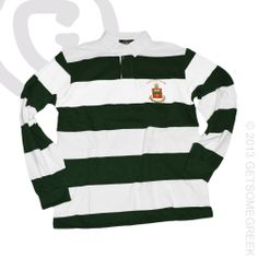 ALPHA CHI OMEGA SORORITY CUSTOM GROUP ORDER ON GREEN & WHITE CREST RUGBY!