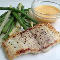 Grilled Catfish with asparagus