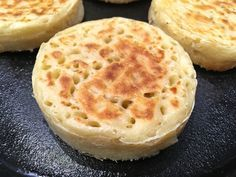 This authentic English crumpets recipe yields an amazing texture and fabulous flavor! Learn how to make crumpets and get ready to fall in love! How To Make Crumpets, English Crumpets, Homemade Crumpets, Bread Recipes, Cooking Recipes, Biscuits, Golden Syrup, Cooking Time, The Best