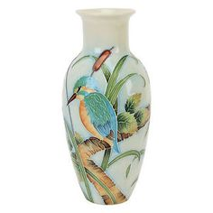 Old Tupton Ware Vase with Kingfisher Motif