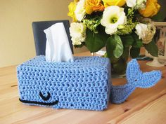 maybe this is the tip of the burgeoning whale tissue box trend?  this knitted tissue box cozy is from the easy shop of raechel