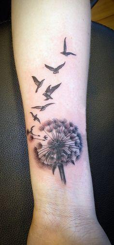 Dandelion and birds Tattoo