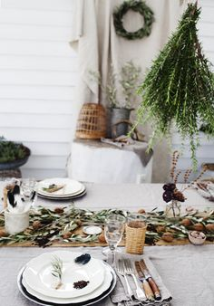 rustic table settings