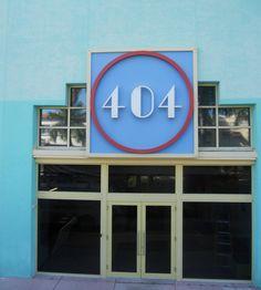 #404 Error Page done Miami Beach Art Deco Style :)