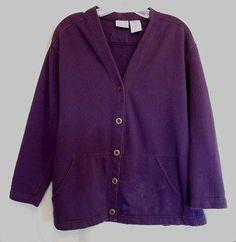 Bobbie Brooks Plum Jacket Size Small WARM 2 Pockets Long Sleeve