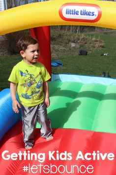 Getting Kids Active with #LittleTikes #letsbounce AD