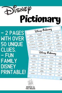 Disney Activities, Disney Games, Disney Day, Disney Trips, Bonding Activities, Disney Travel, Disney Theme, Family Activities, Walt Disney