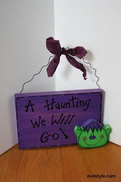 "Halloween Ghoul Sign,Halloween Sign,Wood Halloween Sign, ""A Haunting We Will Go"" Halloween Decor,Ghoul Sign,Halloween,Wood Halloween Sign - http://evilstyle.com/halloween-ghoul-signhalloween-signwood-halloween-sign-a-haunting-we-will-go-halloween-decorghoul-signhalloweenwood-halloween-sign"