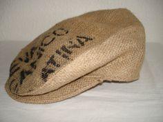 FlatCap handgefertigt aus Kaffeesäcken Größe von MermaidsHatbox