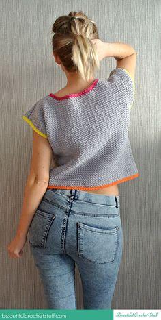 Crochet Crop Top Free Pattern | Beautiful Crochet Stuff ☂ᙓᖇᗴᔕᗩ ᖇᙓᔕ☂ᙓᘐᘎᓮ http://www.pinterest.com/teretegui