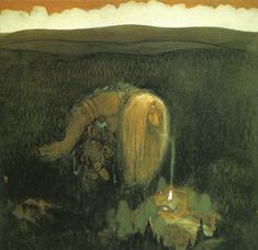 John Bauer - A forest troll Postcard - antique gifts stylish cool diy custom John Bauer, Fantasy Magic, Fantasy Art, High Fantasy, Magic Art, Kay Nielsen, Fairytale Art, Illustration Artists, Book Illustrations