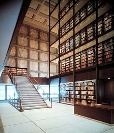 Gordon Bunshaft's Yale University, Beinecke Rare Book and Manuscript Library, New Haven, Connecticut, 1963  Photo by Ezra Stoller