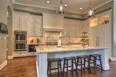 Neutral Kitchen with Mercury Lighting
