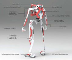 - Powered Exoskeleton Suit for Firefighter by Ken Chen - Yanko Design: Exoskeleton Suit, Powered Exoskeleton, Armor Concept, Concept Art, Arte Robot, Transformers, Mechanical Design, Sci Fi, Character Design