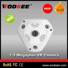 full HD IP network camera 360 degree viewing angle security cctv VR fisheye camera