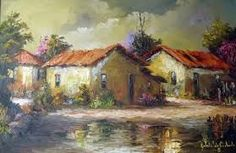 Pintura casarios tela