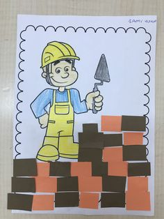Community Helpers Worksheets, Preschool Worksheets, Preschool Learning, Teaching Math, Kindergarten Jobs, Art For Kids, Crafts For Kids, Ramadan Decorations, Montessori Materials