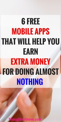 I love finding different ways to make extra money on my free time. This article has break-down of BEST APPS that pay you literally do nothing. I just signed up in all these free apps that pay you.Glad I stopped to read this! Show Me The Money, Make Money From Home, Make Money Online, Free Mobile Apps, Free Apps, Ways To Save Money, How To Make Money, Money Making Crafts, Apps That Pay You