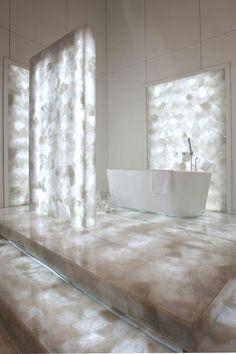 Backlit Concetto stone bath