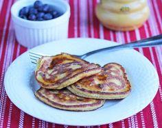 Coconut Flour Dark Chocolate Chip Pancakes © Jeanette's Healthy Living