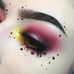 Inspired by @ladyw0lfx ❤️ - PRODUCTS: - @anastasiabeverlyhills Dusty Rose, @sugarpill Flamepoint, @suvabeauty Denaru, & some shades from the @katvondbeauty Shade + Light eye palette all in the crease and lid - @sugarpill Buttercupcake & @anastasiabeverlyhills Gold Rush mixed on the inner corner - @katvondbeauty Vampira liquid lipstick for the dots, @anastasiabeverlyhills DipBrow in Ebony for brows & @eylureofficial Grand glamour lashes ❣️❣️