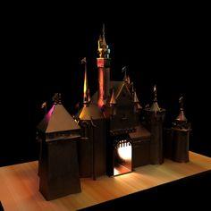 3D Brass Castle Model - 3D Model