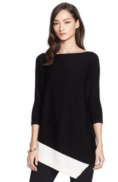 St. John Collection Asymmetrical Merino Wool Sweater available at #Nordstrom