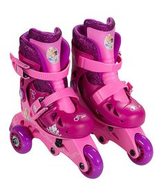 Look at this Disney Princess Glitter Convertible Quad Skates on #zulily today!