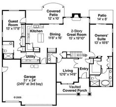 This craftsman design floor plan is 2963 sq ft and has 4 bedrooms and has bathrooms. Bedroom Floor Plans, House Floor Plans, Custom Home Designs, Custom Homes, Shingle Style Homes, Open Concept Floor Plans, Craftsman Style House Plans, Architectural Design House Plans, Story House