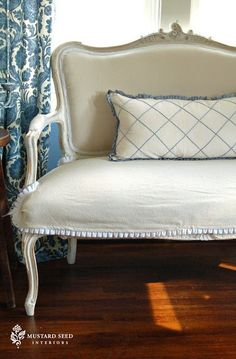 slipcover french settee - Google Search