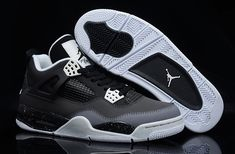 new style 80128 1ca0c Air Jordan 4 Retro Fear Pack Black White-Cool Grey-Pure Platinum - Air  Jordan