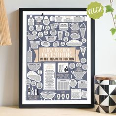 Personalised How To Cook Everything Vegetarian Print - Unframed / Gold