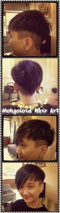 #shorthair #asymmetry #undercut #mongoloidhairart #oug #malaysia