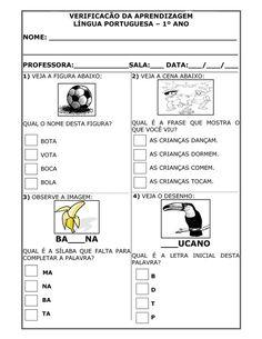 avaliações / provas prontas para 1º ano. avaliação diagnóstica do primeiro ano - alfabetização, matemática, historia, geografia, português