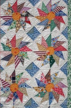 posted by Julie Silber 1930s pinwheel quilt