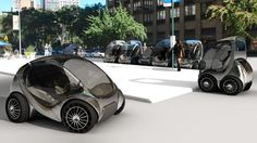 Street testing: The car – only 60% the size of the Smartcar – has been built by a Spanish firm and will be put to the test in trials in Bilbao, Boston and Malmo. (Copyright: MIT Medialab) 18 June 2013