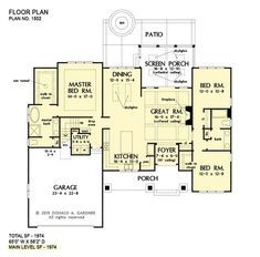 House Plan The Dawson By Donald A Gardner Architects House Floor Plans Country House Plans How To Plan