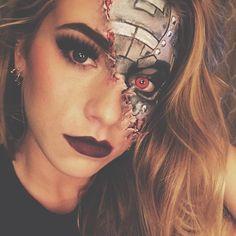 31 Days of Halloween Makeup: Day 24  Cyborg  ___ #cyborg #cyborgmakeup #halloweencostume #halloweenmakeup #motd #31daysofhalloween #31daysofhalloweenmakeup #fiercefantasy2016 #wetnwild #wetnwildbeauty #bhcosmetics #urbandecay #sexy #colourpop #sfx #fx #sfxmakeup #fxmakeup #makeup