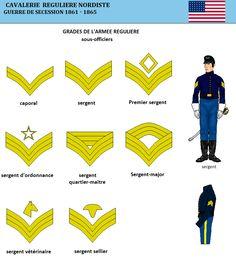 Comme son homologue confédérée, la cavalerie de l'Union a la couleur distinctive jaune.