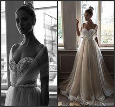 Elihav Sasson Crystals 2016 Beach Arabic Wedding Dresses Sweetheart Pearls A Line Tulle Bridal Dresses Sexy Wedding Gowns Wedding Gowns With Sleeves Weddingdress From Weddingmall, $130.66| Dhgate.Com