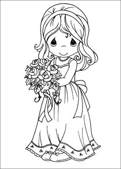 precious moments wedding Coloring Pages Precious Moments 08