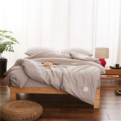 Cheap Duvet Cover, Buy Directly from China Suppliers:Pure Gray Modern Style Quilt Cover Bedding Cotton Duvet Cover Comfortable 1Pcs Quilt Cover Single Bed Satin Quilt Cover Soft